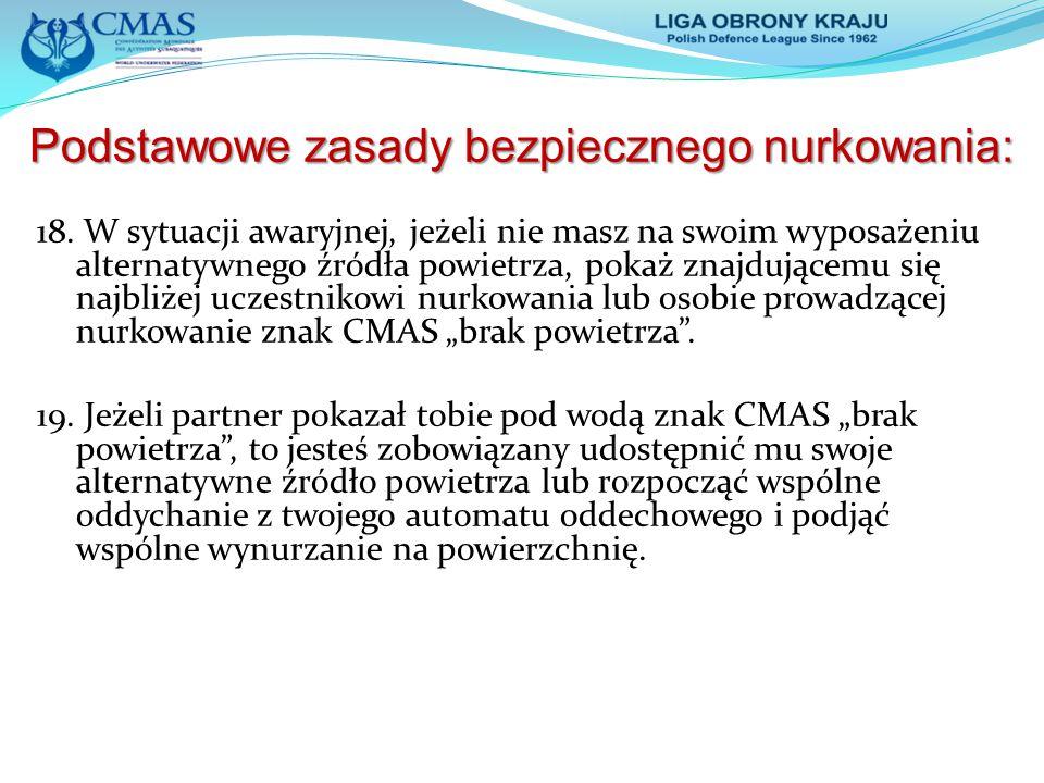 Podstawowe zasady bezpiecznego nurkowania Podstawowe zasady bezpiecznego nurkowania : 20.