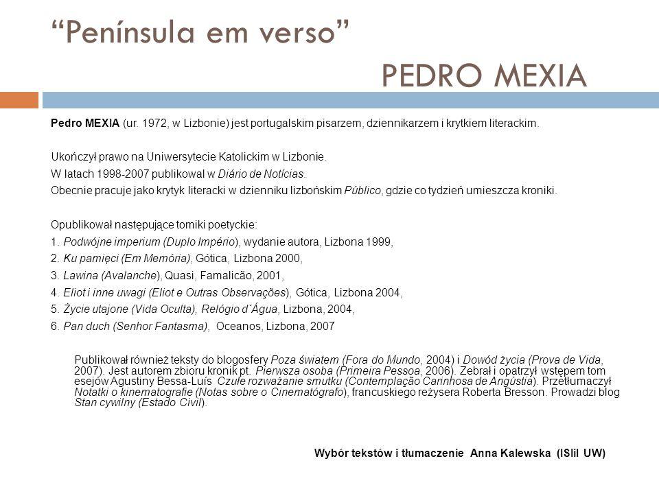 Península em verso PEDRO MEXIA Pedro MEXIA (ur.