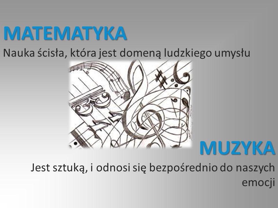 Matematykę i muzykę najsilniej łączy pojęcie rytmu.