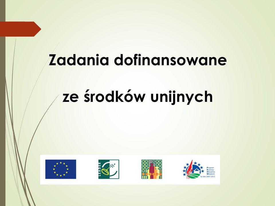 Zadania dofinansowane ze środków unijnych
