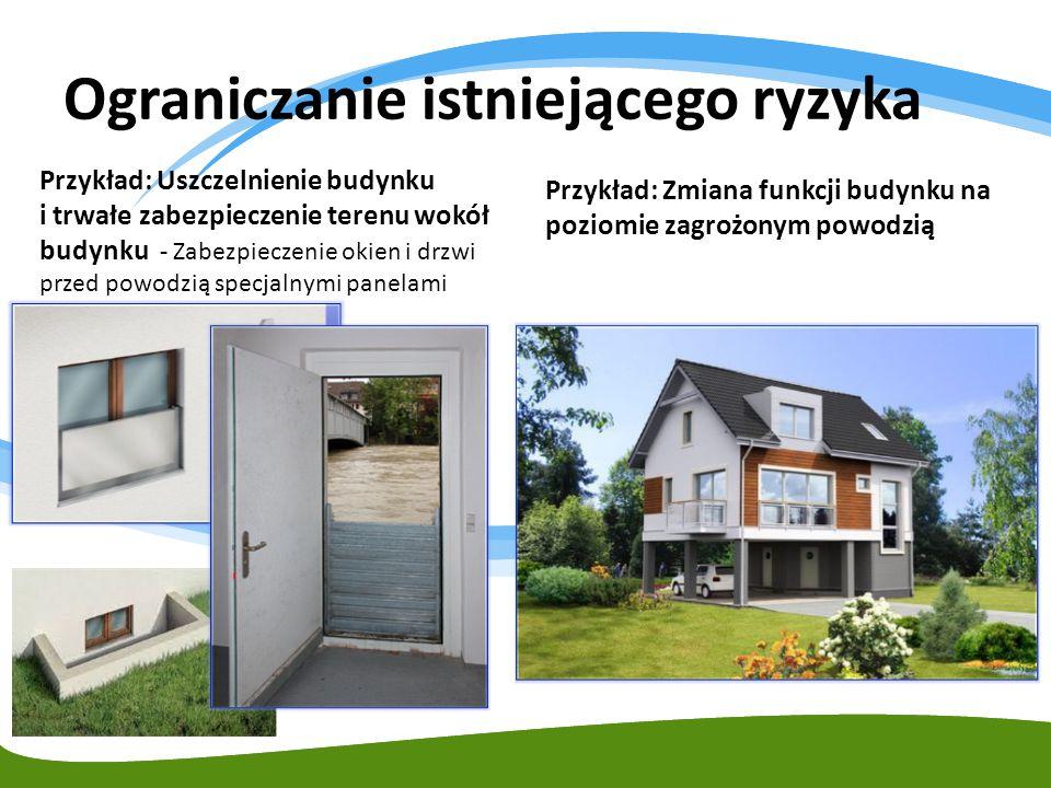 Przykład: Uszczelnienie budynku i trwałe zabezpieczenie terenu wokół budynku - Zabezpieczenie okien i drzwi przed powodzią specjalnymi panelami Fot. R