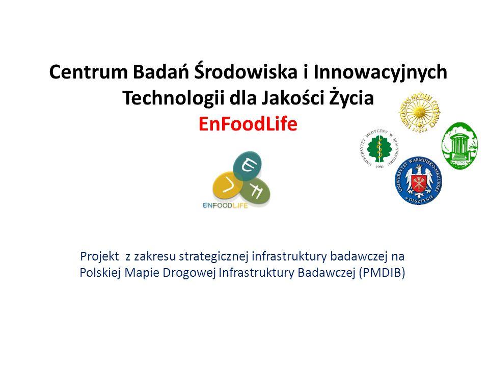 Centrum Badań Środowiska i Innowacyjnych Technologii dla Jakości Życia EnFoodLife Projekt z zakresu strategicznej infrastruktury badawczej na Polskiej Mapie Drogowej Infrastruktury Badawczej (PMDIB)