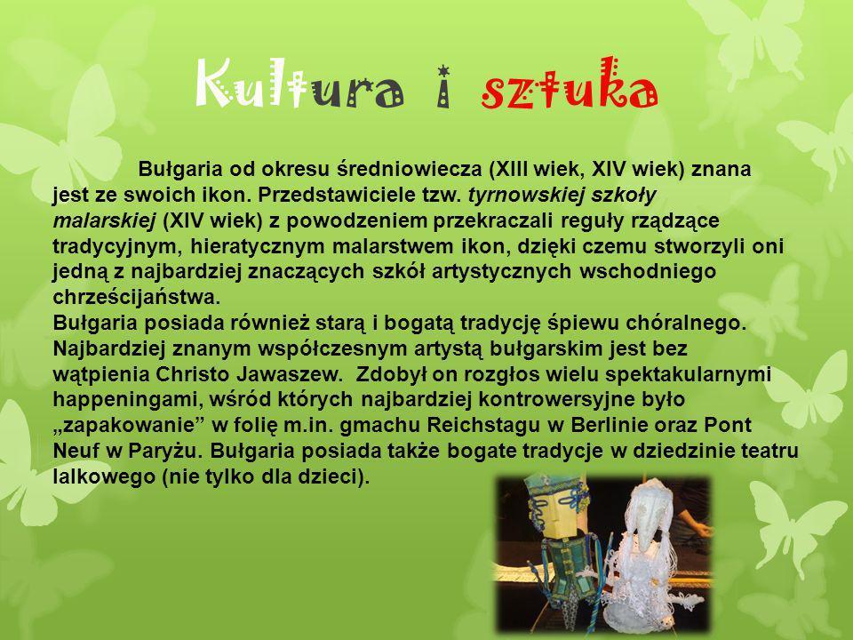 Kultura i sztuka Bułgaria od okresu średniowiecza (XIII wiek, XIV wiek) znana jest ze swoich ikon. Przedstawiciele tzw. tyrnowskiej szkoły malarskiej