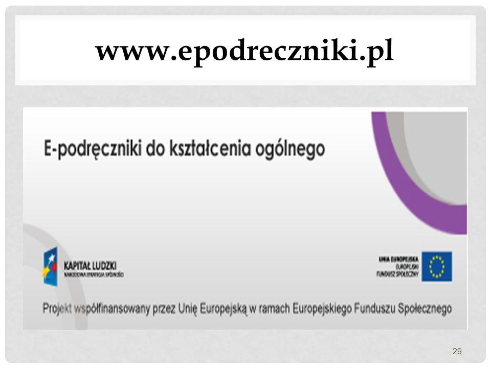 www.epodreczniki.pl 29
