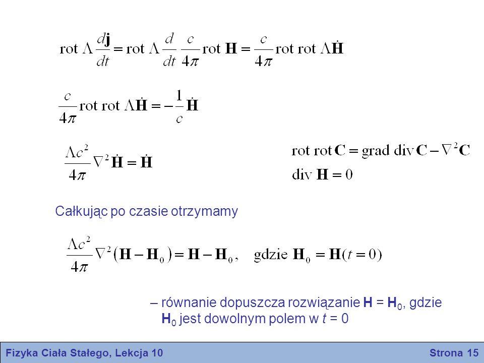 Fizyka Ciała Stałego, Lekcja 10 Strona 16 F.I H.