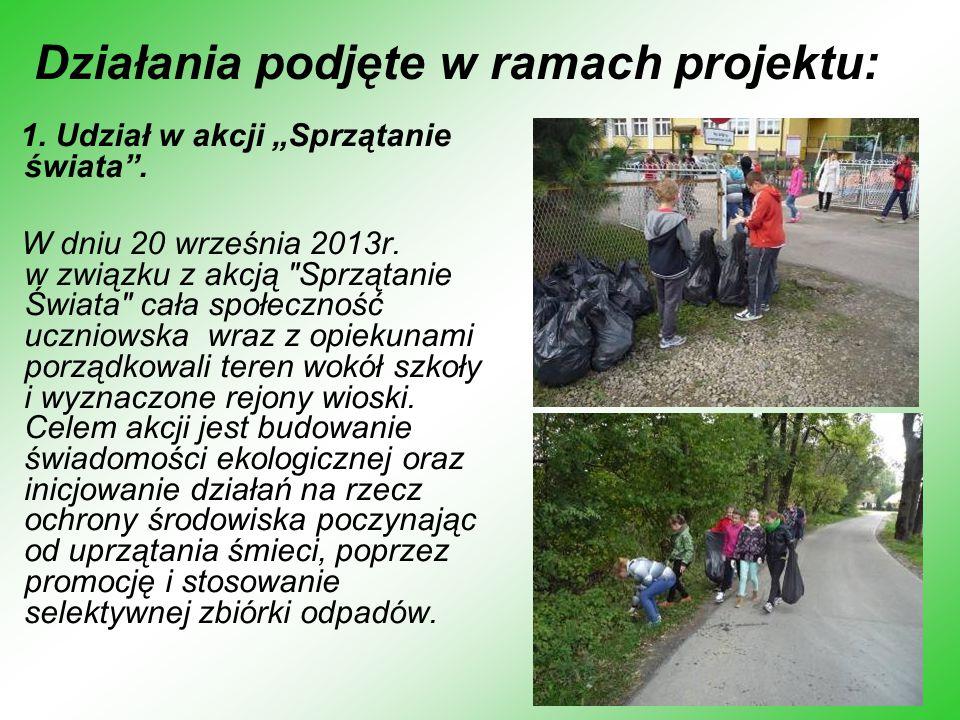 W akcję zaangażowany był Urząd Gminy w Lipinkach, który zakupił jednorazowe rękawiczki i worki dla wszystkich uczniów naszej szkoły.