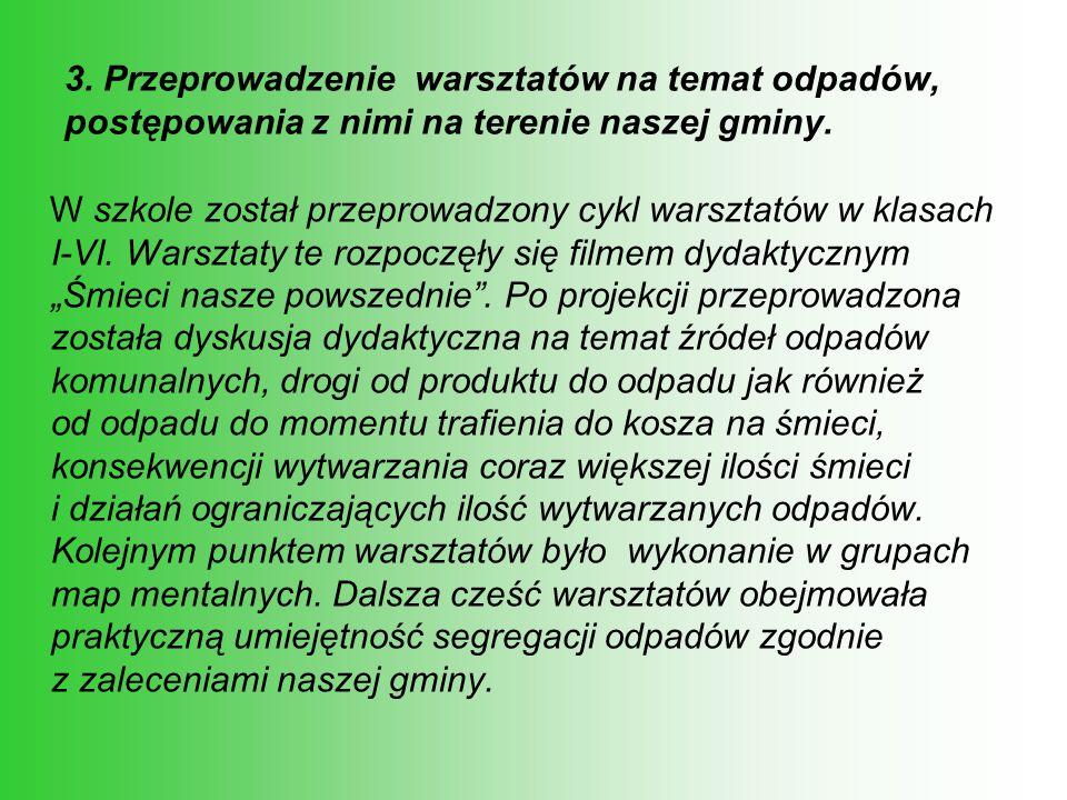 7.Wycieczka do gminnej oczyszczalni ścieków.