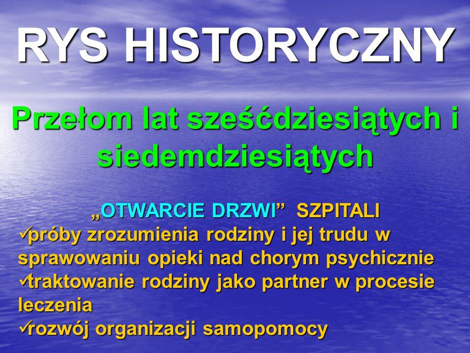 """NATIONAL ALLIANCE FOR MENTALLY ILL (USA) SCHIZOPHRENIA FELLOWSHIP (Wielka Brytania) GREGORY BATESON MENTAL RESEARCH INSTITUTE ( MRI ) Kalifornia HARRY SULLIVAN PAUL WATZLAWICK twórcy teorii """"podwójnego wiązania JANET H."""