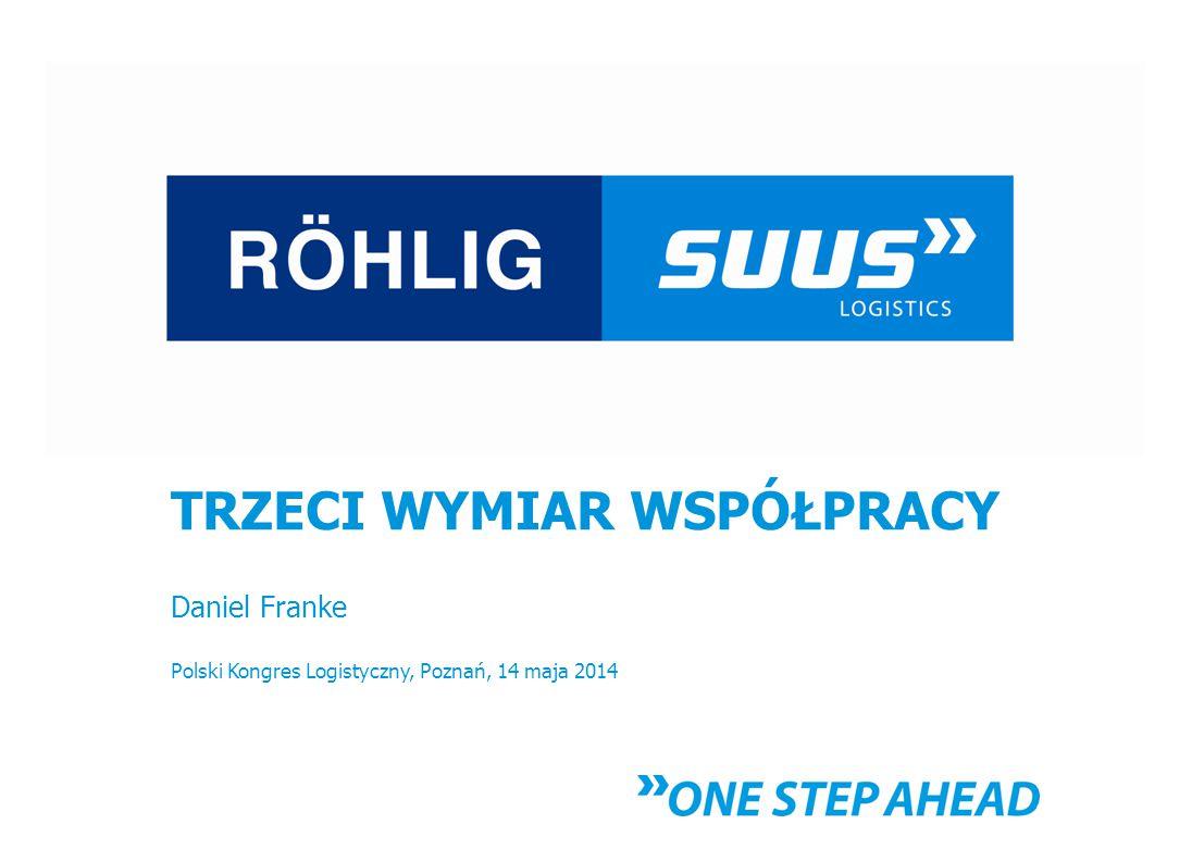 TRZECI WYMIAR WSPÓŁPRACY Daniel Franke Polski Kongres Logistyczny, Poznań, 14 maja 2014