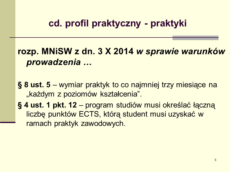 cd.profil praktyczny - praktyki rozp. MNiSW z dn.