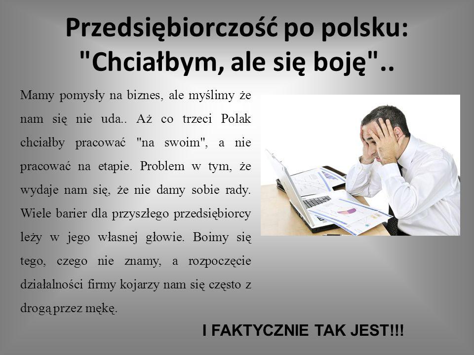 Przedsiębiorczość po polsku: Chciałbym, ale się boję ..