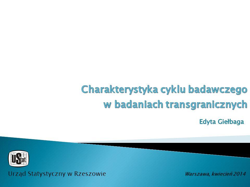 Urząd Statystyczny w Rzeszowie Warszawa, kwiecień 2014