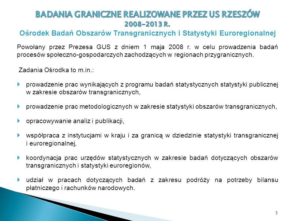 Powołany przez Prezesa GUS z dniem 1 maja 2008 r. w celu prowadzenia badań procesów społeczno-gospodarczych zachodzących w regionach przygranicznych.