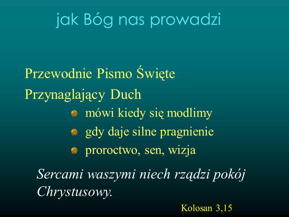 Przewodnie Pismo Święte Przynaglający Duch mówi kiedy się modlimy gdy daje silne pragnienie proroctwo, sen, wizja jak Bóg nas prowadzi Sercami waszymi
