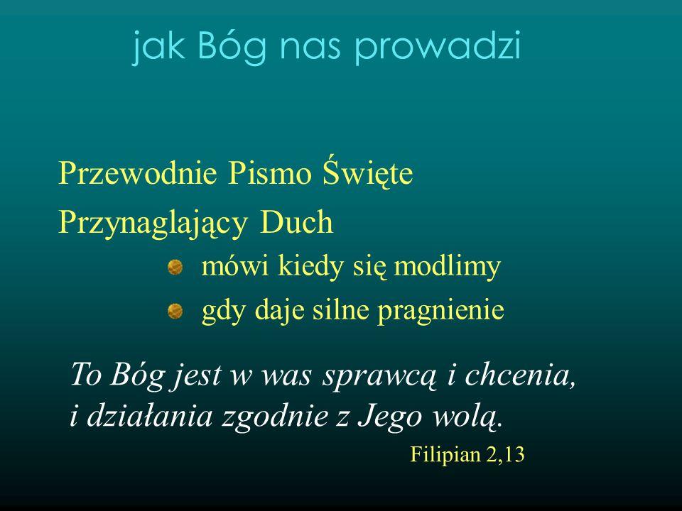 Przewodnie Pismo Święte Przynaglający Duch mówi kiedy się modlimy gdy daje silne pragnienie proroctwo, sen, wizja jak Bóg nas prowadzi Sercami waszymi niech rządzi pokój Chrystusowy.