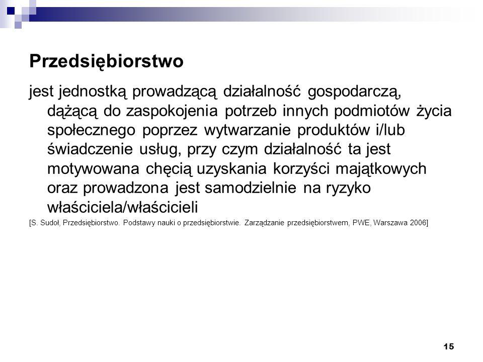 Definicja prawna przedsiębiorstwa Zgodnie z art.