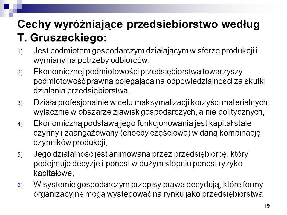 Cechy przedsiębiorstwa [S.Sudoł, Przedsiębiorstwo…, s.
