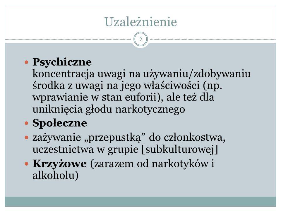 Narkotyki a więzi społeczne Trzy grupy polskich narkomanów (osób mających styczność z narkotykami) Osoby zażywające tzw.