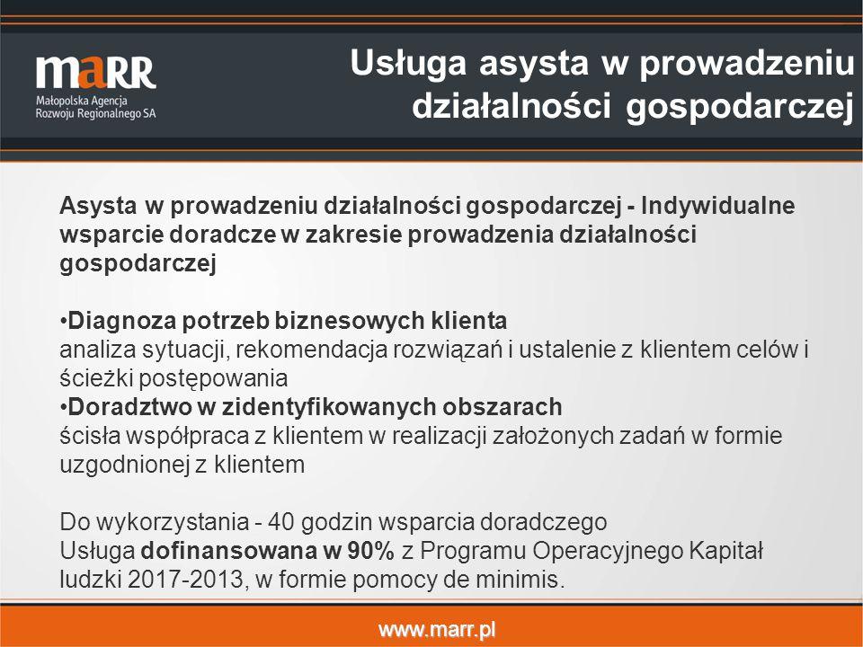 www.marr.pl Asysta w prowadzeniu działalności gospodarczej - Indywidualne wsparcie doradcze w zakresie prowadzenia działalności gospodarczej Diagnoza