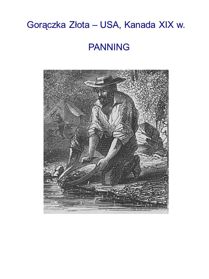 Gorączka Złota – USA, Kanada XIX w. PANNING