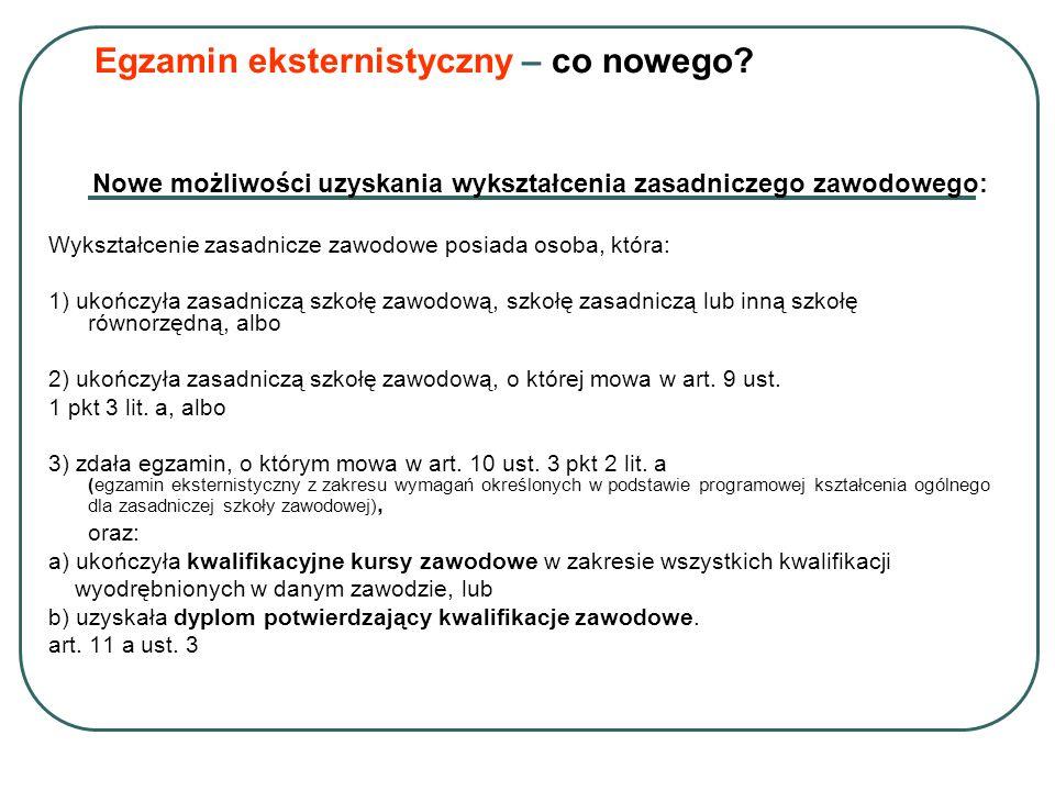 Egzamin eksternistyczny – co nowego.