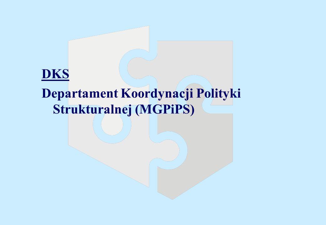 DKS Departament Koordynacji Polityki Strukturalnej (MGPiPS)