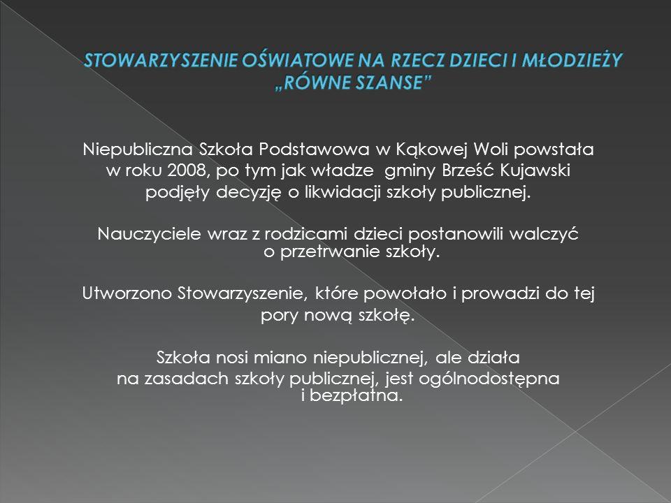 Niepubliczna Szkoła Podstawowa w Kąkowej Woli powstała w roku 2008, po tym jak władze gminy Brześć Kujawski podjęły decyzję o likwidacji szkoły publicznej.