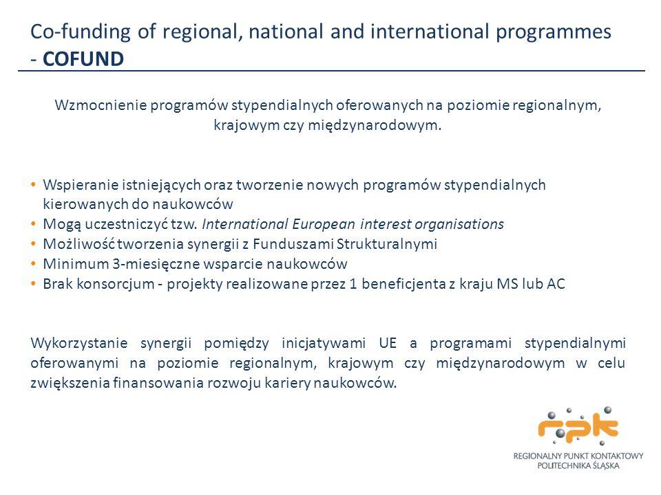 Co-funding of regional, national and international programmes - COFUND Wzmocnienie programów stypendialnych oferowanych na poziomie regionalnym, krajo