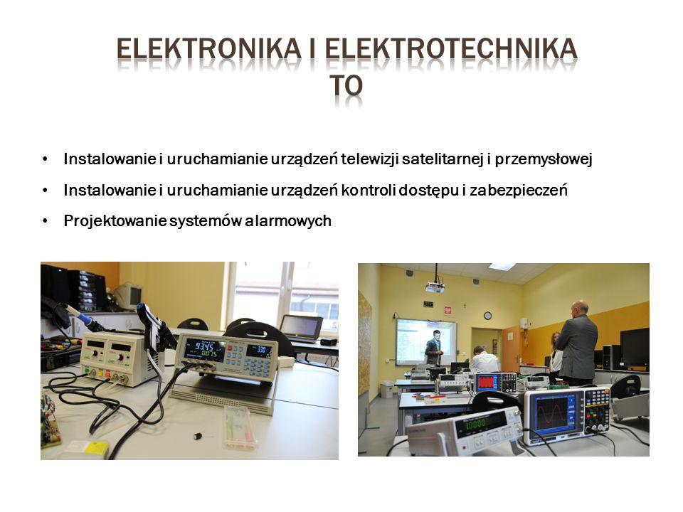 Instalowanie i uruchamianie urządzeń telewizji satelitarnej i przemysłowej Instalowanie i uruchamianie urządzeń kontroli dostępu i zabezpieczeń Projek