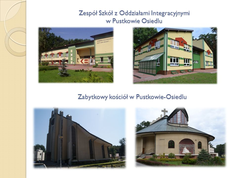 Zespół Szkół z Oddziałami Integracyjnymi w Pustkowie Osiedlu Zabytkowy kościół w Pustkowie-Osiedlu