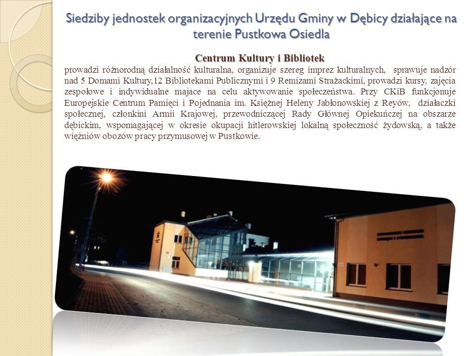 Centrum Kultury i Bibliotek prowadzi różnorodną działalność kulturalna, organizuje szereg imprez kulturalnych, sprawuje nadzór nad 5 Domami Kultury,12