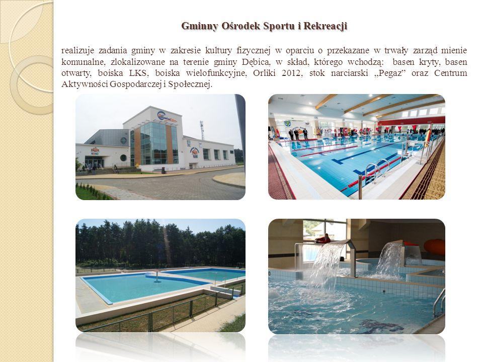 Gminny Ośrodek Sportu i Rekreacji realizuje zadania gminy w zakresie kultury fizycznej w oparciu o przekazane w trwały zarząd mienie komunalne, zlokal
