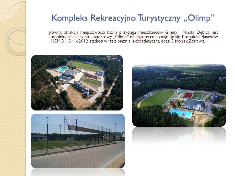 """Kompleks Rekreacyjno Turystyczny """"Olimp"""" główną atrakcją miejscowości która przyciąga mieszkańców Gminy i Miasta Dębica jest kompleks rekreacyjno – sp"""