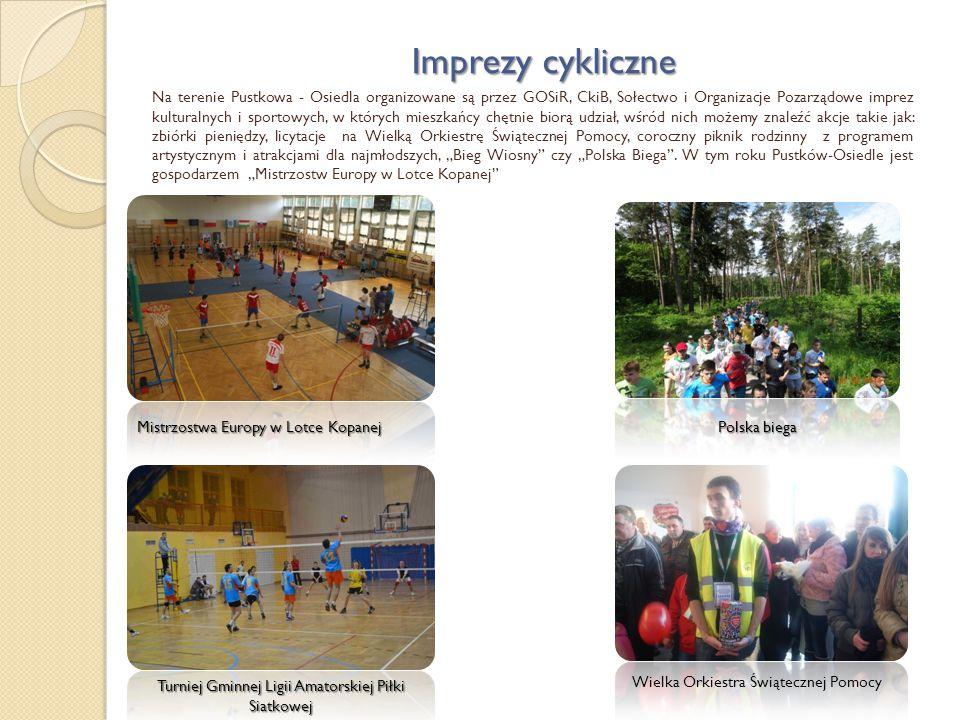 Imprezy cykliczne Na terenie Pustkowa - Osiedla organizowane są przez GOSiR, CkiB, Sołectwo i Organizacje Pozarządowe imprez kulturalnych i sportowych