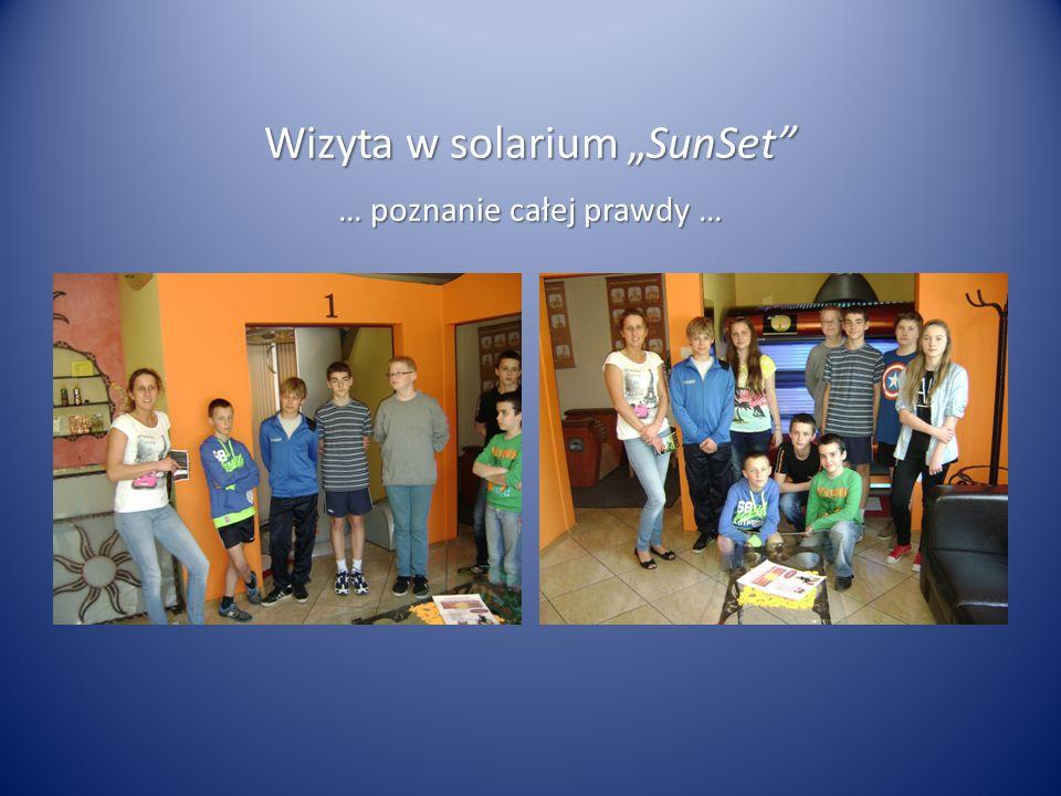 """Wizyta w solarium """"SunSet"""" … poznanie całej prawdy …"""