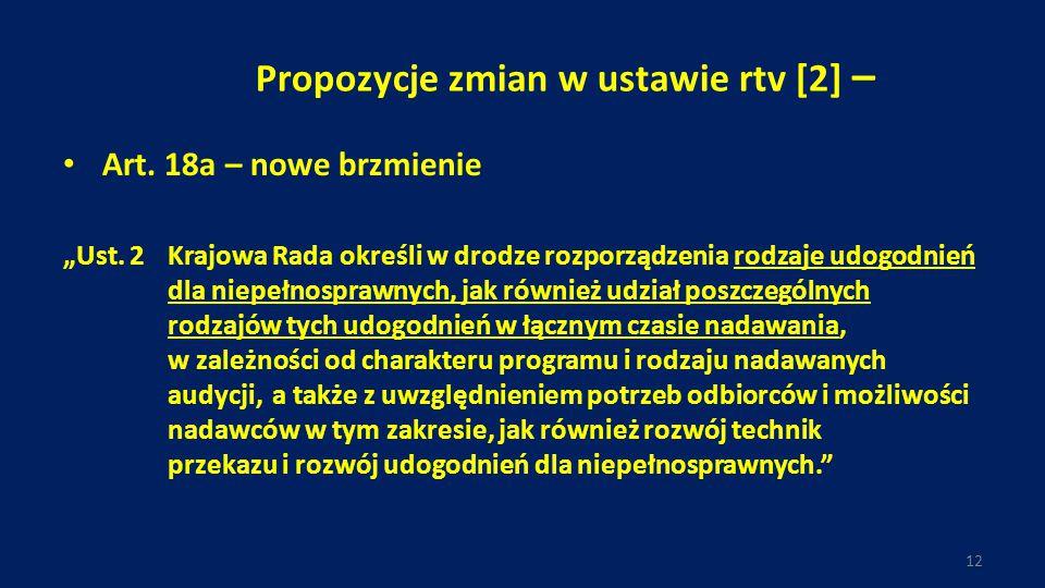 """Propozycje zmian w ustawie rtv [2] – Art.18a – nowe brzmienie """"Ust."""