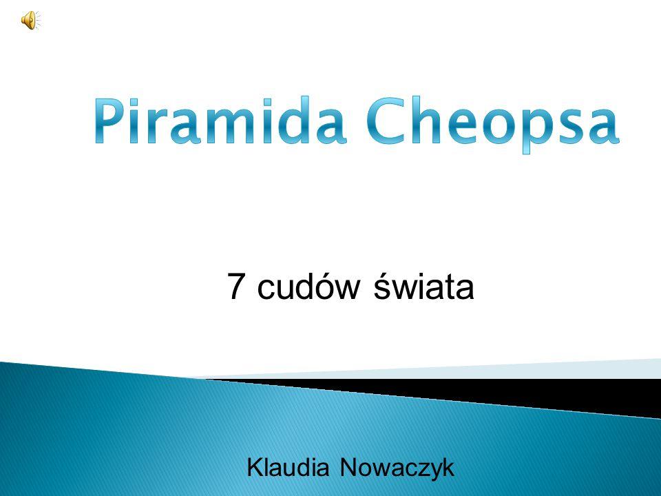 7 cudów świata Klaudia Nowaczyk