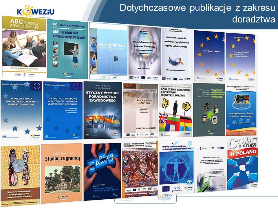 Dotychczasowe publikacje z zakresu doradztwa