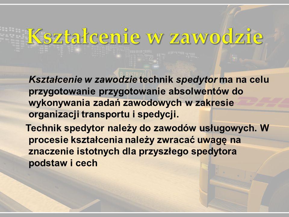 Po ukończeniu szkoły możesz:  Prowadzić własną działalność gospodarczą  Prowadzić firmę transportową lub Studiować na pokrewnych kierunkach w następujących uczelniach:  Państwowa Wyższa Szkoła Zawodowa w Legnicy  Politechnika Wrocławska  Uniwersytet Wrocławski