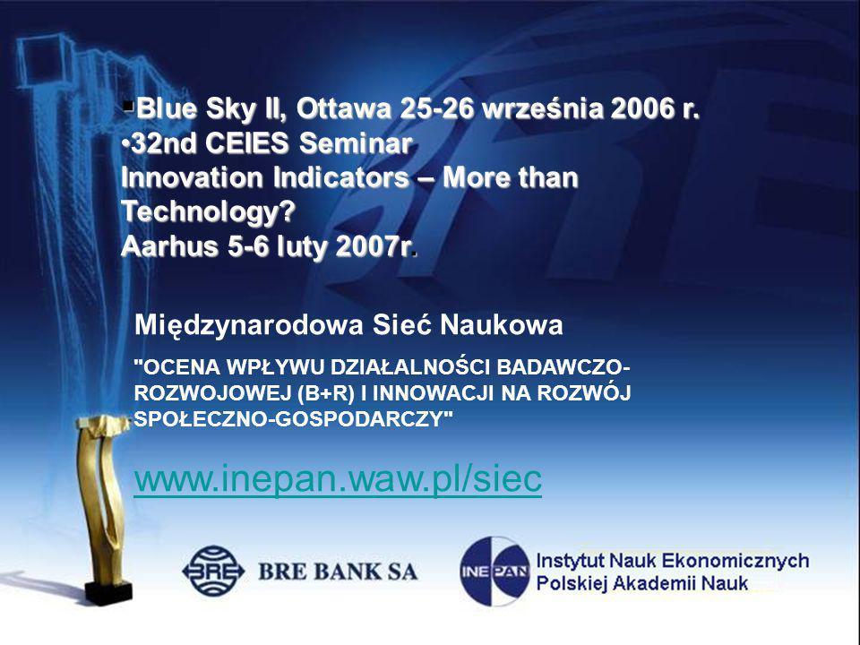 data tytuł podtytuł Instytut Nauk Ekonomicznych Polskiej Akademii Nauk Pałac Staszica Ul.