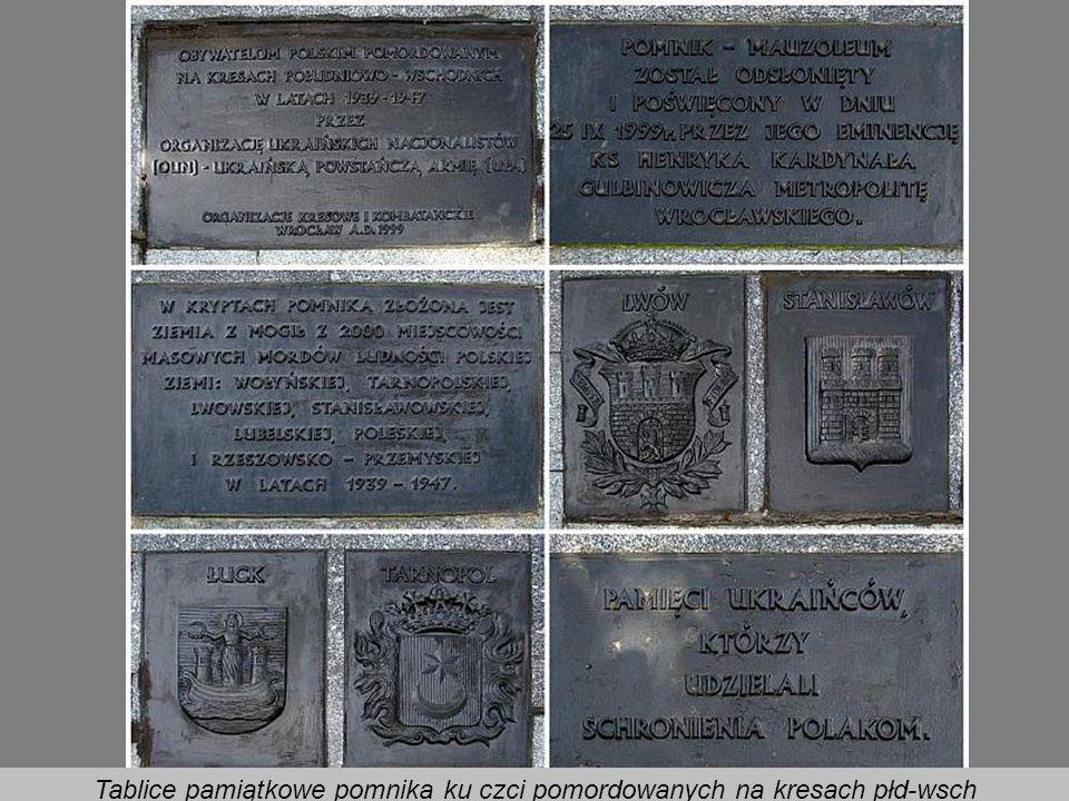 Pomnik ku czci pomordowanych na kresach południowo-wschodnich w latach 1939 – 1947 przed Akademią Sztuk Pięknych