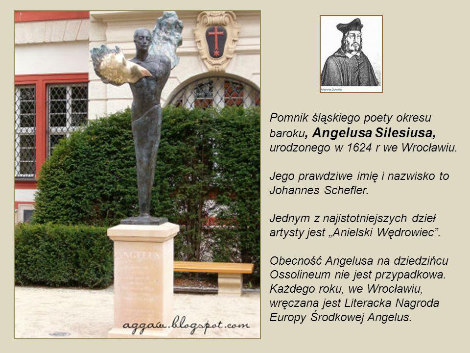 Pomnik Ofiar I Wojny Światowej Na dziedziniec między Ossolineum a Maciejówką wróciła po ponad 60 latach rzeźba Chrystusa autorstwa Theodora von Gosena