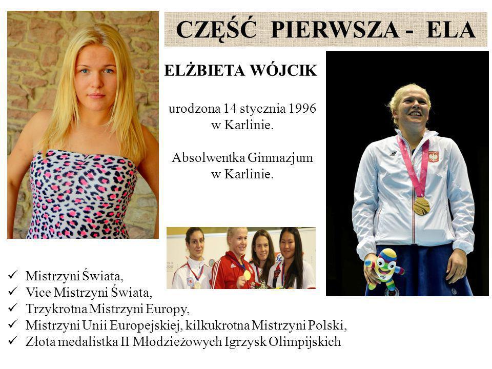 ELŻBIETA WÓJCIK urodzona 14 stycznia 1996 w Karlinie.