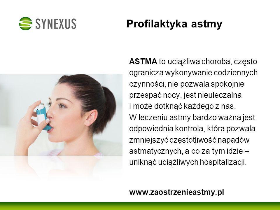 """Akcja Profilaktyczna """"Astma Pod Kontrolą W skutecznej walce z astmą niezbędne są regularne badania oraz konsultacje lekarskie."""
