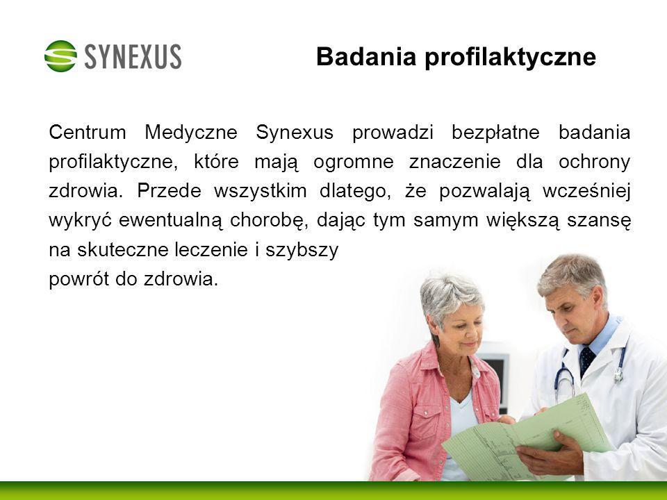 Badania profilaktyczne Centrum Medyczne Synexus od wielu lat wspiera profilaktykę i diagnostykę zdrowotną dla Seniorów w Warszawie.