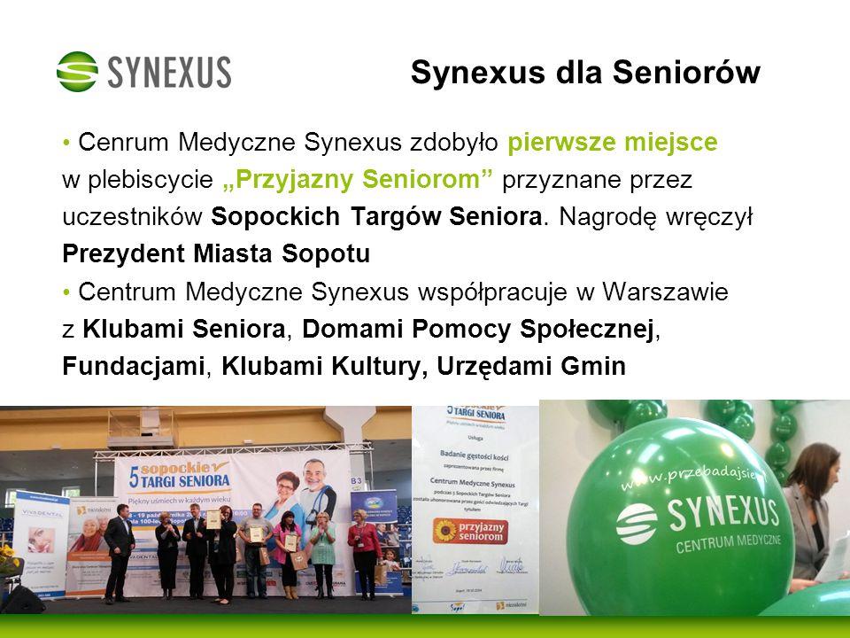 Centrum Medyczne Synexus bierze czynny udział w licznych akcjach społecznych 28 czerwca odbyła się Parada Seniorów zakończona piknikiem na terenie Zamku Ujazdowskiego Braliśmy czynny udział w promowaniu zdrowia Seniorów Seniorzy mogli otrzymać zaproszenie na bezpłatne badania w Centrum Medycznym Synexus