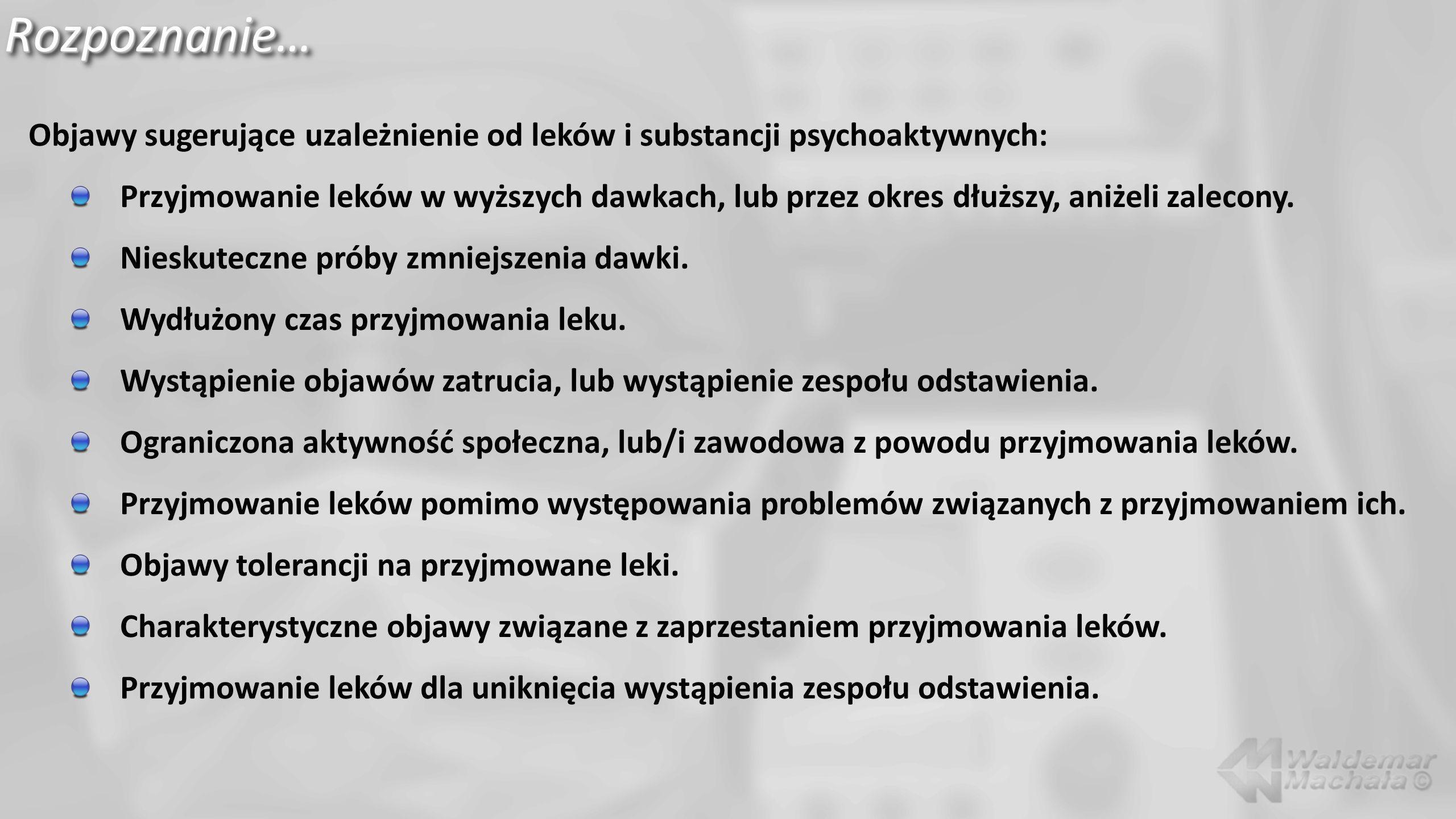 Marihuana…, objawy…, zespół odstawienia… Droga – wziewna (tetrahydrokannabinol).