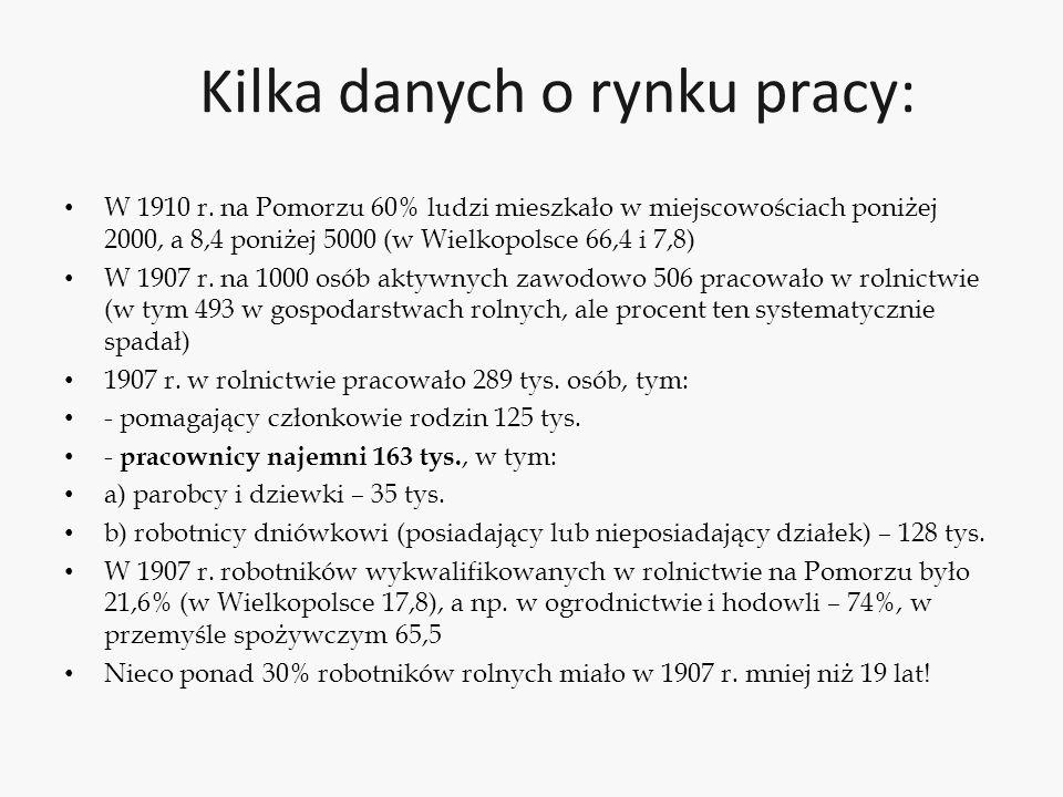 Główne pytania to: Jakie były relacje między tworzonym przez pruskie państwo (odgórnie) systemem kapitalistyczno- rynkowym z jego preferencją dla indywidualistycznej konkurencji (ale wspieranej okresowo przez silny protekcjonizm), a programem solidaryzmu narodowego, rozwijanym od połowy XIX wieku przez polskie elity w Wielkopolsce i następnie przenoszonym na teren Pomorza, w którym odwołanie do wspólnoty narodowej trwającej w oporze przeciwko władzy zaborczej było wartością podstawową?