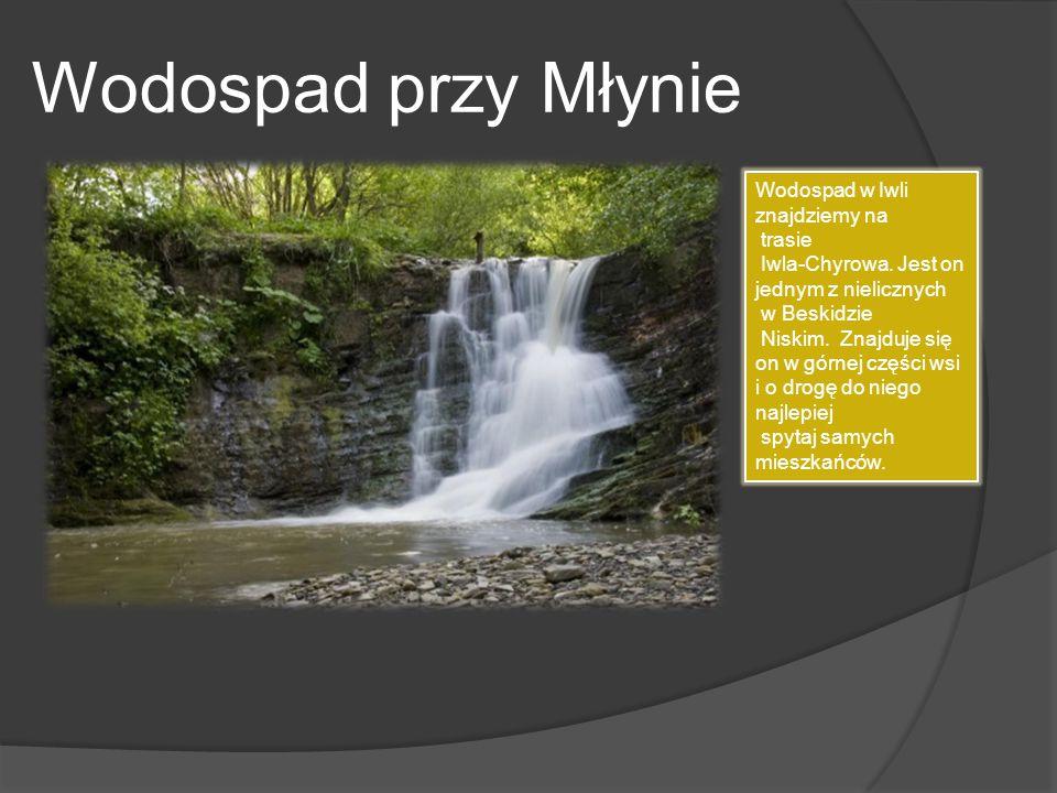 Wodospad przy Młynie Wodospad w Iwli znajdziemy na trasie Iwla-Chyrowa. Jest on jednym z nielicznych w Beskidzie Niskim. Znajduje się on w górnej częś