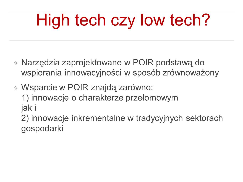 High tech czy low tech.